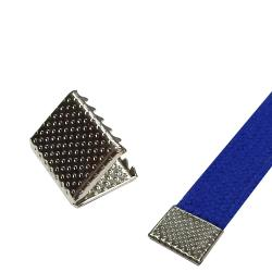 Metall Klapp Kordelenden silber 12x15mm