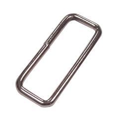 Metall Schlaufe für Taschengurte 40mm silber