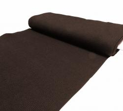 Grobstrick Jersey / Bündchen Stoff - dunkelbraun