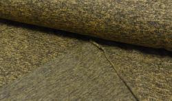 Gestrickter Fleece Stoff - senfgelb mellange