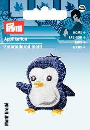 PRYM Applikation Pinguin blau