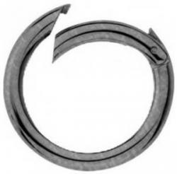 PRYM 2 Taschenringe Taschenverschluss altsilber