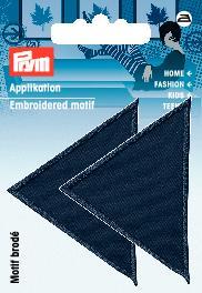 PRYM Applikation Dreiecke groß dunkelblau