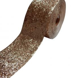 Exclusive Glitzerborte Flitter Borte gold 10cm breit