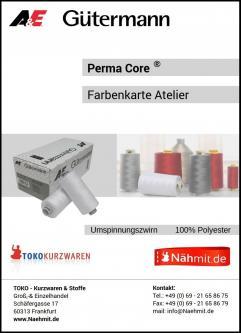 PermaCore® Gütermann - Nähmit Nähgarn Farbkarte