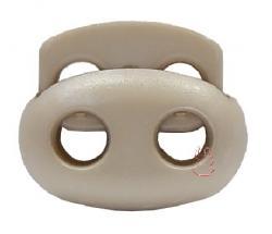 Kordelstopper Oval 2-Loch / beige