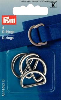 PRYM Halbrundringe 25 mm silber