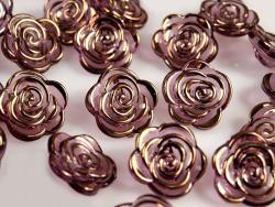 Blusenknopf Rosanne dunkel violett18mm