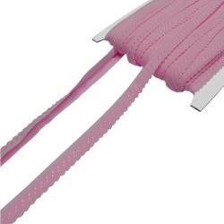 Elastisches Einfassband mit Bogenkante - rosa