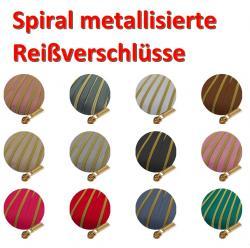 Spirale Metallisierter Reißverschluss - Meterware endlos