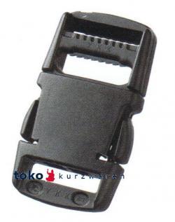 YKK Steckschnalle Steckverschluss 40mm schwarz