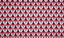 Baumwoll Jersey Stoff Maritim Druck Bojen schwarz rot grau