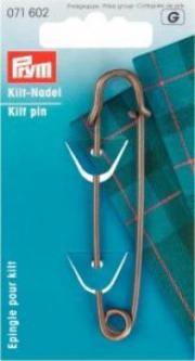 PRYM Kiltnadel MS 76 mm altmessing