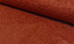 Gestrickter Fleece Stoff - terracotta mellange