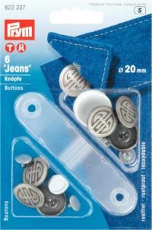 PRYM NF-Jeans-Knöpfe Artdeco MS 20 mm alteisen