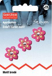 PRYM Applikation Blume klein pink mit Spiegel