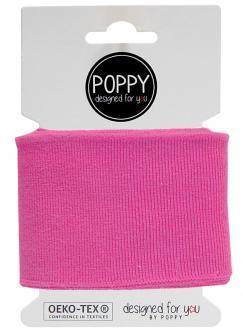 Cuff Poppy - Fertigbündchen Uni - pink