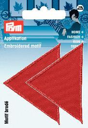 PRYM Applikation Dreiecke groß rot
