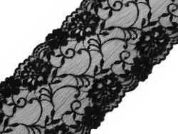 Elastische Borte / Spitze extra breit 16cm schwarz