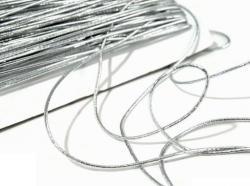 Elastic-Kordel Gummikordel 1,3mm silber