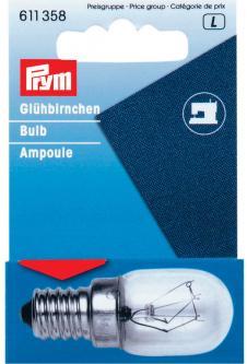 PRYM Glühlampe für Nähmaschine 15W Schraubfassung