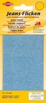 Kleiber Jeans Aufbügel Flicken 17x15cm hellblau