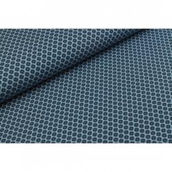MEGAN BLUE Baumwoll Jersey Stoff Druck kleine Blumen Jeans-Marine