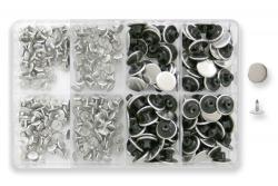 100 Jeansknöpfe 17mm silber