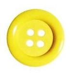 Clownsknopf 33mm gelb