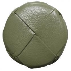 Lederknopf rund Olivegrün 26mm echt Leder