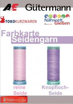 Gütermann - Nähmit Seidengarn & Knopfloch Seide Farbkarte