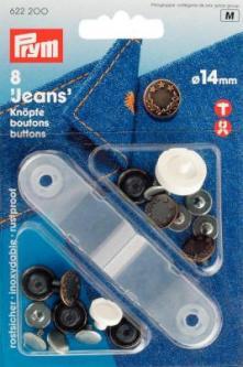 PRYM NF-Jeans-Knöpfe Lorbeerkranz MS 14 mm altkupfer