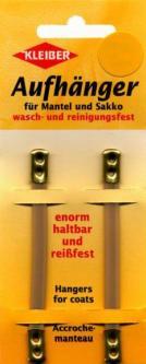 2 Kleiber Mantelaufhänger Kunstleder beige