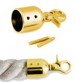 Endstück mit Karabiner für Taschengriffe mit Schrauben gold