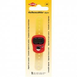 KLEIBER - Digitalter Reihenzähler ca.10,5x2,8 cm rot