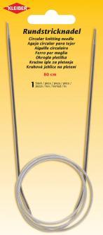 KLEIBER - Rundstricknadeln Aluminium 80 cm