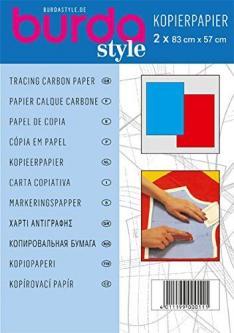 BURDA Schnittmuster - Kopierpapier rot / blau