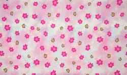 Baumwoll Jersey Stoff Digital Druck Schmetterlinge & Blumen