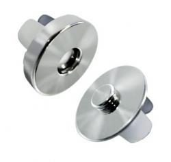 1 Magnet Druckknopf 19mm Magnetknopf silber