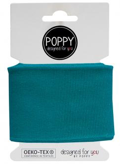 Cuff Poppy - Fertigbündchen Uni - petrol
