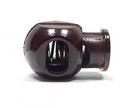 Kordelstopper Cube 1-Loch / dunkelbraun