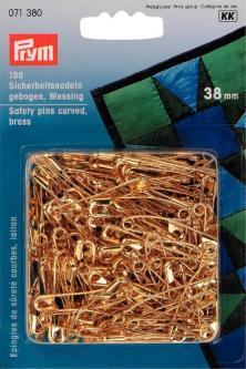 PRYM Sicherheitsnadeln gebogen MS 38 mm goldfarbig