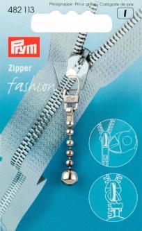PRYM Fashion-Zipper Kugelkette silberfarbig