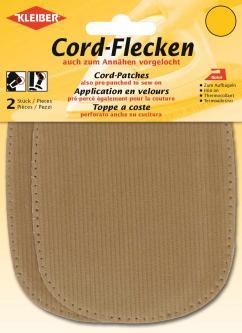 Kleiber Cord Aufbügelflecken 2 St. beige