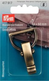 PRYM Taschenverschluss Karabinerhaken altmessing