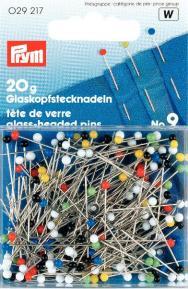 PRYM Glaskopfnadeln ST 0,60 x 30 mm bunt