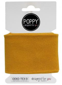 Cuff Poppy - Fertigbündchen Uni - ockergelb