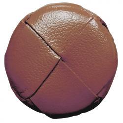 Lederknopf rund Rehbraun 28mm echt Leder