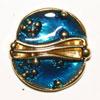 Exclusiv Knopf gold / blau 15mm