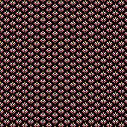 Beschichtete Baumwoll Stoff kleine Blüte schwarz